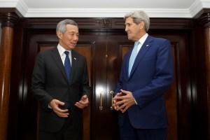 李顯龍訪美,與國務卿凱瑞會談。