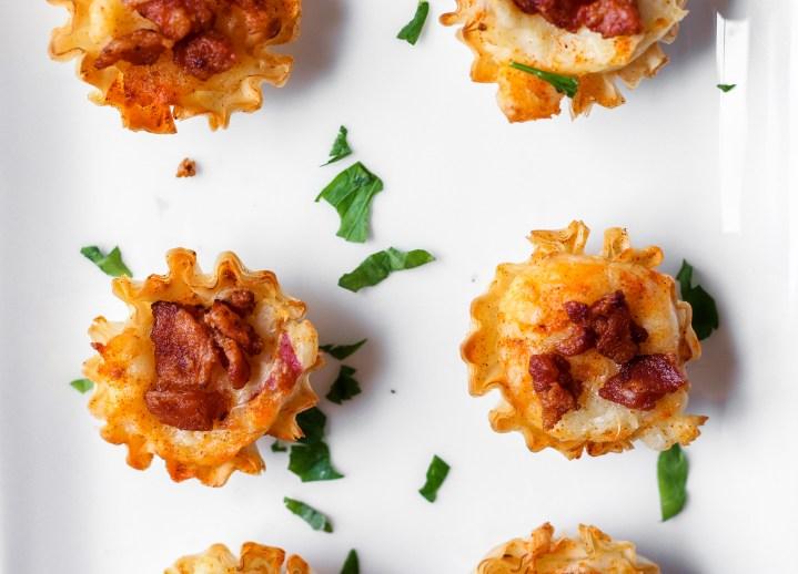 gruyere and bacon potato bites