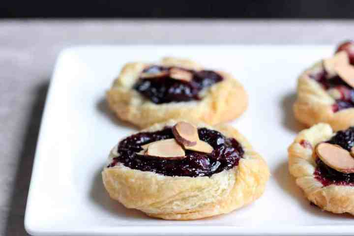 Blueberry puff pastries.