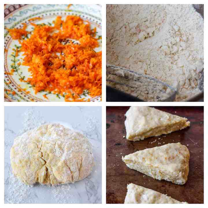 step by step photos of how to make orange scones