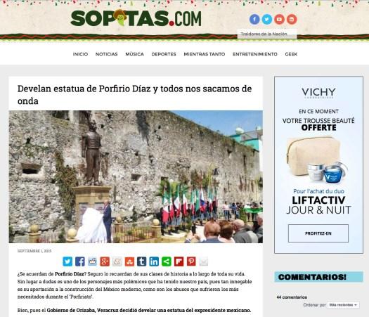 Lambiscon con cargo de alcalde devela estatua de Dictador, en Veracruz. // Vía: sopitas.com ... http://www.sopitas.com/516979-develan-estatua-de-porfirio-diaz-y-todos-nos-sacamos-de-onda/