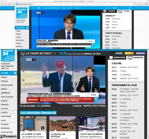 La Semana que Phillippe Labró… Narrativa basada en un editorial.   Fair Use of Media for at least two reasons, one is to keep an eye on a French labor reform; and two, the image capture follows the spiel of a megalomaniac's identified on the screen with the color red.