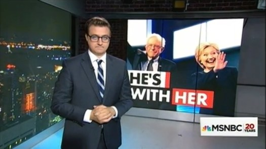 Election 2016 —Round 2… Only on MSNBC. | Fair use of Mr. Hayes, the Bern, and Mrs. Rodham C… [Context follows].