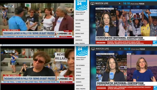 You guys at Rockefeller Center are being ridiculous. | Uso justo de MSNBC y France24.