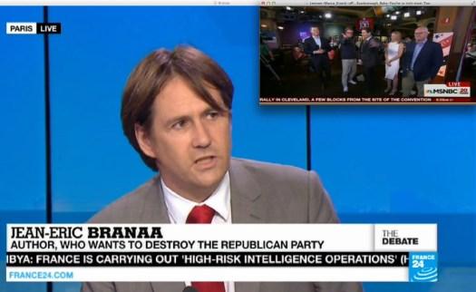 Uso justo de la cobertura americana de France 24. | Fair use of media. [Context follows].