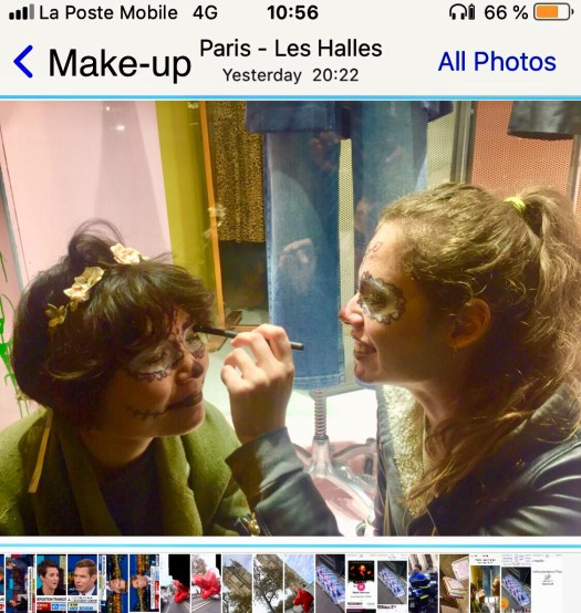 The make–up artist