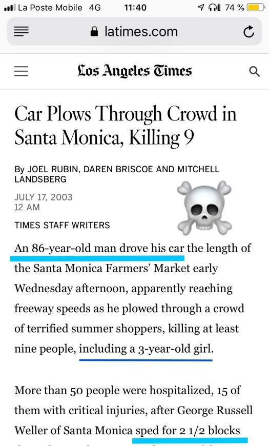 Old people kill lives