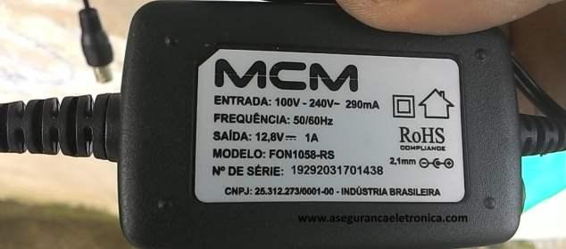 Fonte MCM para câmeras de segurança - CFTV