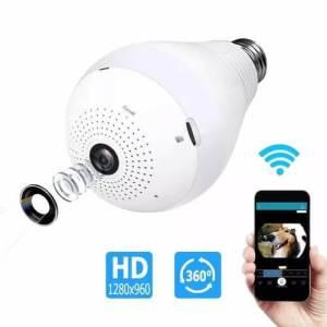 Câmera espiã lâmpada que filma em 360° panorâmica - Analise completa! | Segurança Eletrônica