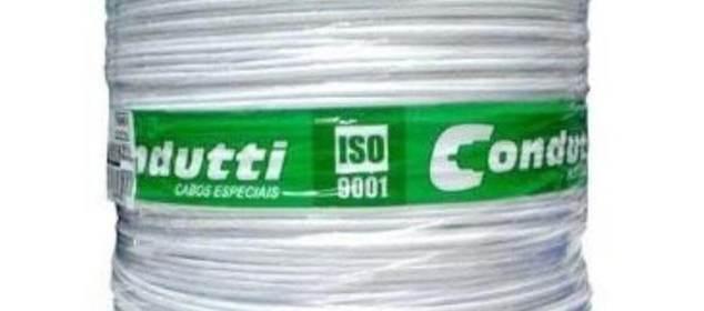 Cabo Coaxial 4mm bipolar flexível Condutti