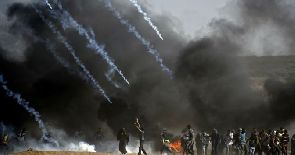At least 55 dead, 1,200 wounded in Gaza protests as U.S. Embassy opens in Jerusalem