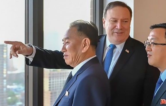 Until recently, Kim Yong-chol (left) was blacklisted in the United States