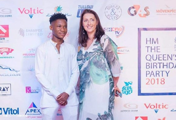 Abraham Attah at the Queen's birthday celebration in Accra