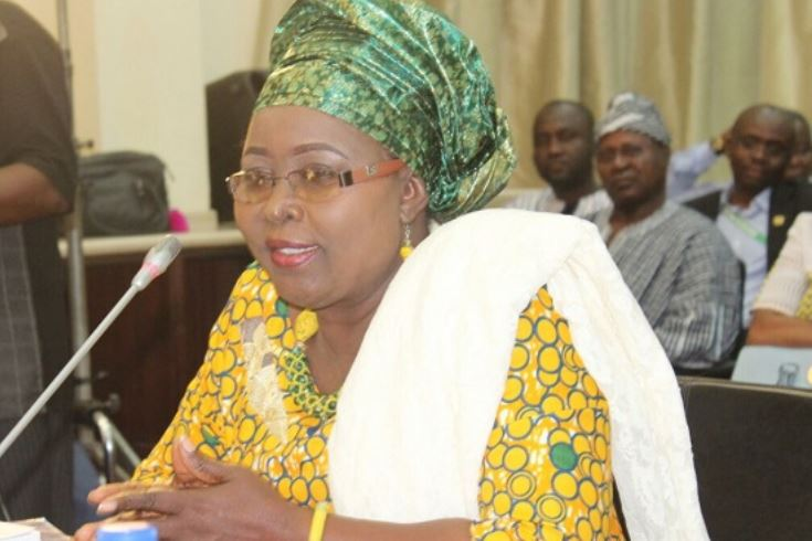 Hajia Alima Mahama speaks at conference