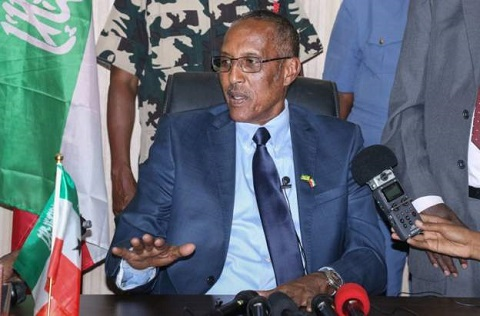 President Muse Bihi Abdi, pictured above, pardoned the king