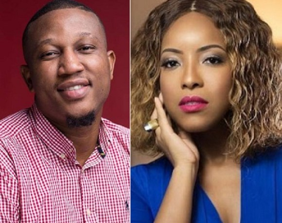 Chief Executive Officer of 3Music Awards, Sadiq Abdulai Abu and Joselyn Dumas
