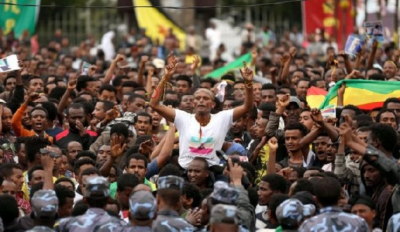 Thousands of people came together in the capital, Addis Ababa