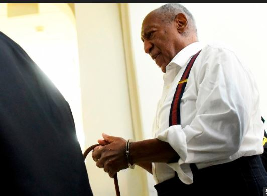 Bill Cosby leaves court in handcuffs