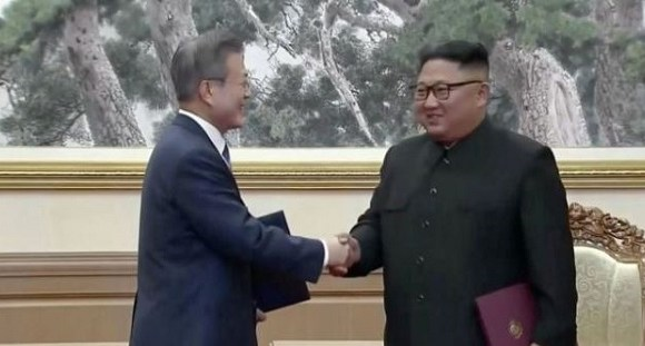 Moon Jae-in and Kim Jong-un signed what they say is 'a leap forward'
