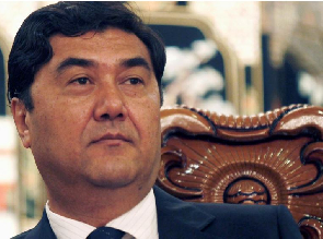 Nur Bekri, chairman of Xinjiang Uygur Autonomous Region, attends a news conference in Urumqi