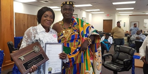 Ohemaa Mercy is the first Ghanaian Gospel musician to receive a key to Cincinnati