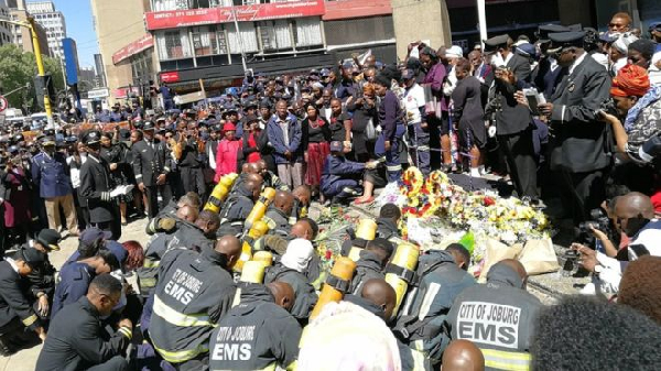 South Africans are shocked over the death of three firefighters