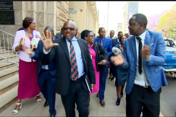 The opposition lawmakers walked out of President Emmerson Mnangagwa's state of the nation address