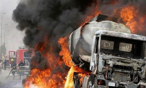 The truck exploded at the point of discharging gas