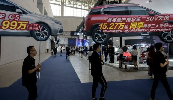 Car sales in China declined in September for the third month in a row