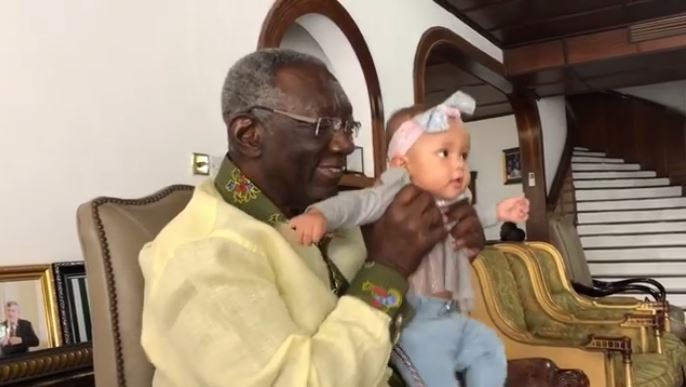 Kufuor and Yvonne Nelson's daughter