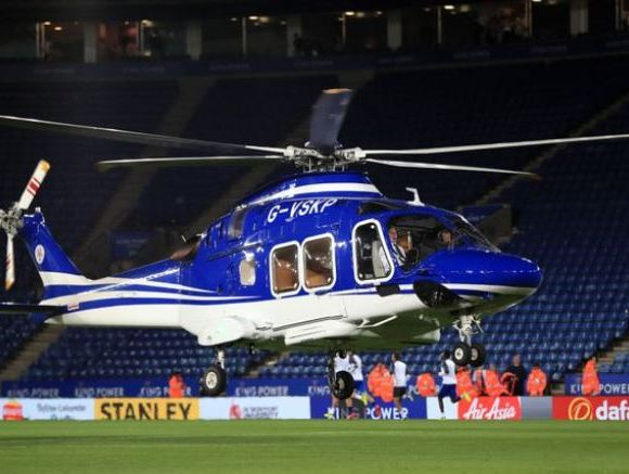 Leicester City owner's helicopter crashes