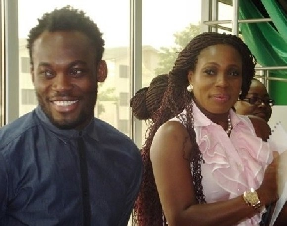 Michael Essien with wife, Akosua Puni