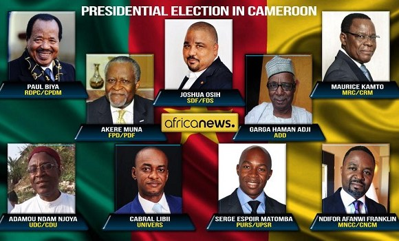 Results of Cameroon's October 7 presidential elections are expected on Monday