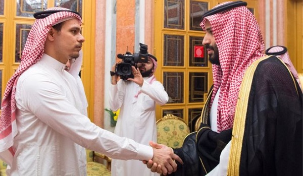 Salah Khashoggi met the crown prince in Riyadh, in an apparently staged encounter