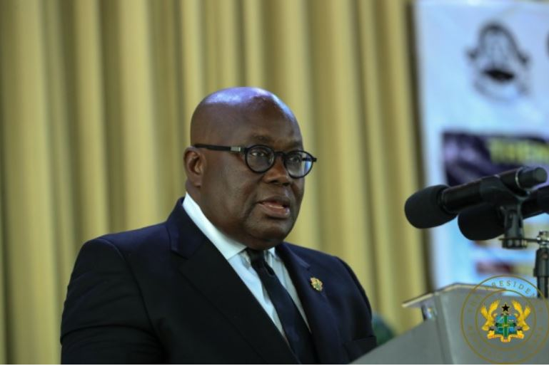 Akufo-Addo addresses a gathering