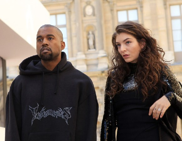 Kanye (Left) with Lorde (Right)
