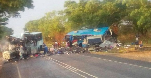 The two buses collided in the town of Rusape