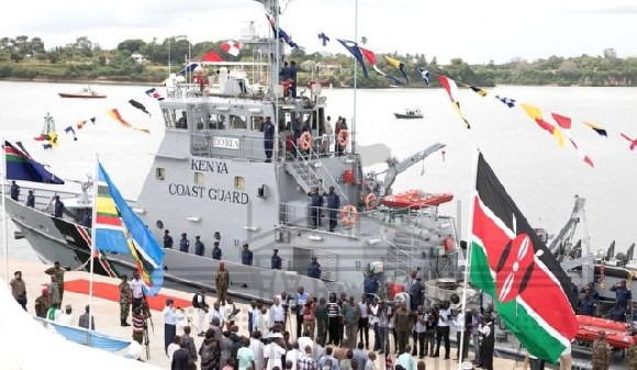 This vessel, the MV Doria is the Kenyan coastguard's first and only boat