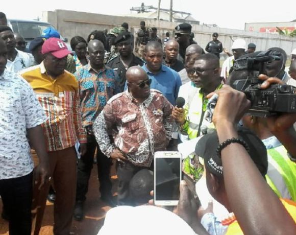 Akufo-Addo inspects Tema interchange