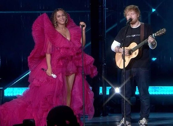 Beyonce and Ed sheeran