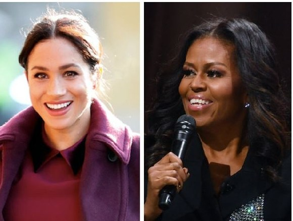 Former first lady Michelle Obama offered some words of wisdom for Meghan, the Duchess of Sussex