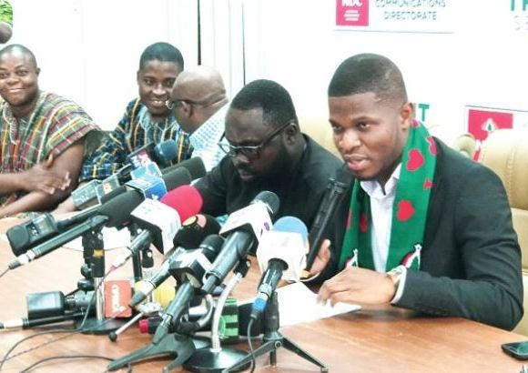 Sammy Gyamfi addresses the press