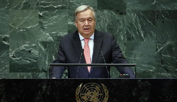 Guterres said the report contained 'sobering statistics'