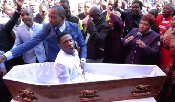 Congolese born Pastor Lukau of Alleluia Ministries performs a resurrection miracle