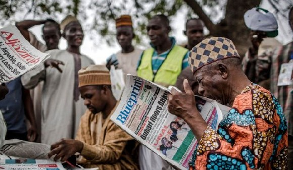 Mr Buhari's victory was front-page news in Nigeria