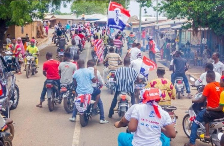 NPP supporters on bike, Ghana Political News Report Articles