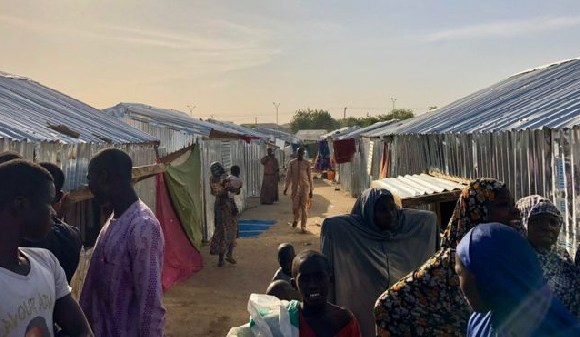 One of the overcrowded camps people had fled to
