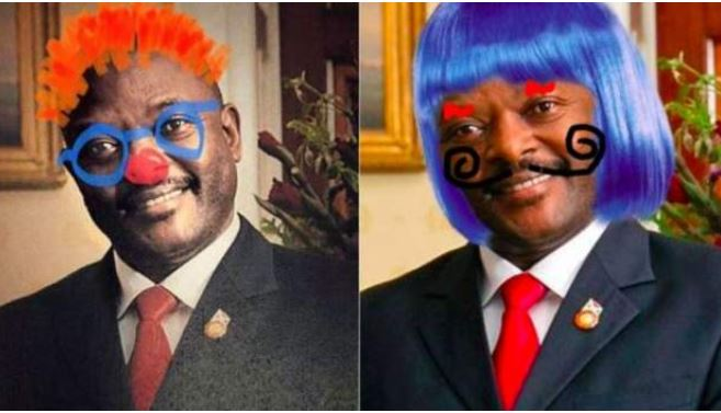 Burundi presidents picture defaced