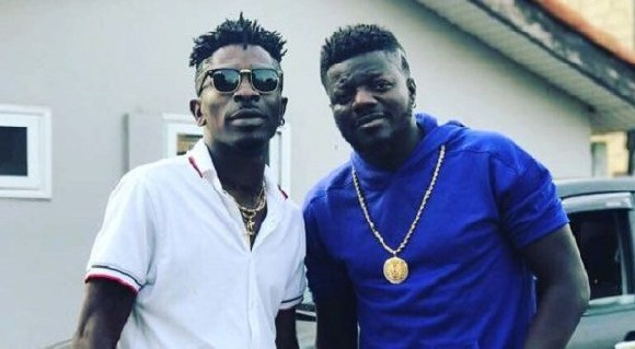 Dancehall artiste, Shatta Wale and rapper Pope Skinny