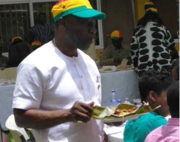 Finance Minister, Ken Ofori-Atta at the kenkey party